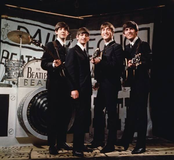 Photograph - Happy Beatles by Hulton Archive