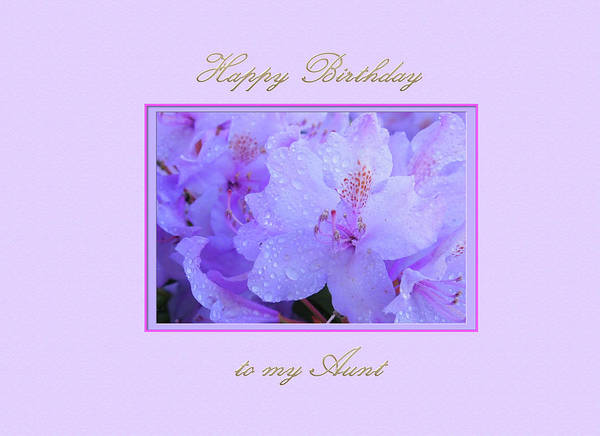 Digital Art - Happy Birthday To My Aunt Purple With Hydrangeas by Jacqueline Sleter