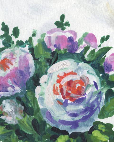Wall Art - Painting - Happy Bouquet Floral Impressionism  by Irina Sztukowski