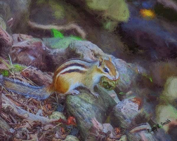 Digital Art - Happy Chipmunk by Rusty R Smith