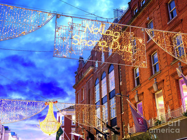 Wall Art - Photograph - Happy Christmas On Grafton Street Dublin by John Rizzuto