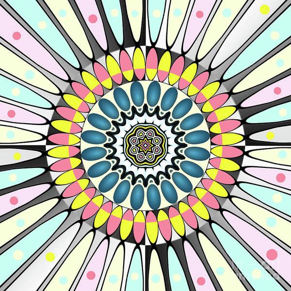 Wall Art - Digital Art - Happy Colors Mandala by Gaspar Avila