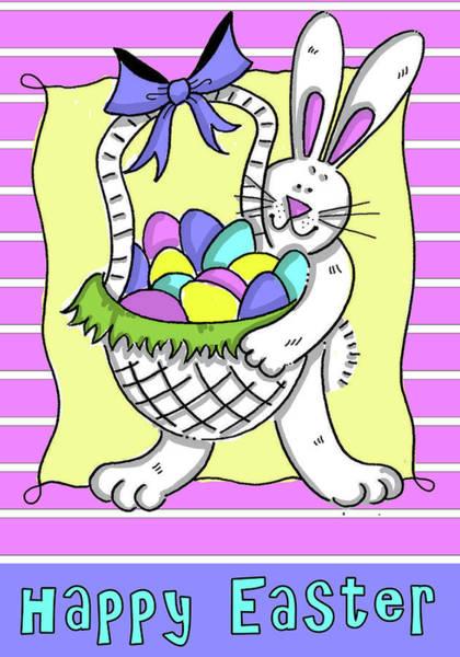 Wall Art - Digital Art - Happy Easter Basket by Deidre Mosher
