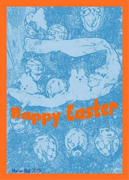 Easter Sunday Digital Art - Happy Easter Card 1 by Marian Bell