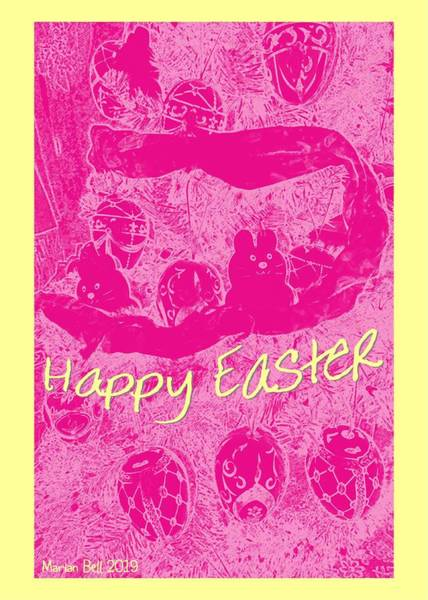 Easter Sunday Digital Art - Happy Easter Card 2 by Marian Bell
