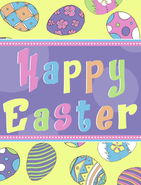 Wall Art - Digital Art - Happy Easter Eggs by Sd Graphics Studio