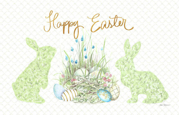 Wall Art - Mixed Media - Happy Easter by Janice Gaynor