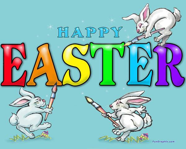 Digital Art - Happy Easter by Kevin Middleton
