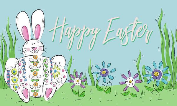 Wall Art - Digital Art - Happy Easter (rectangle) by Deidre Mosher