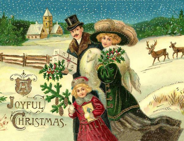 Wall Art - Digital Art - Happy Family Wish You A Joyful Christmas by Long Shot