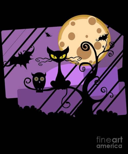 Happy Halloween Cat Art Print