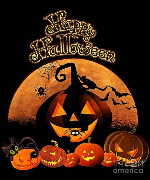 Digital Art - Happy Halloween by Flippin Sweet Gear