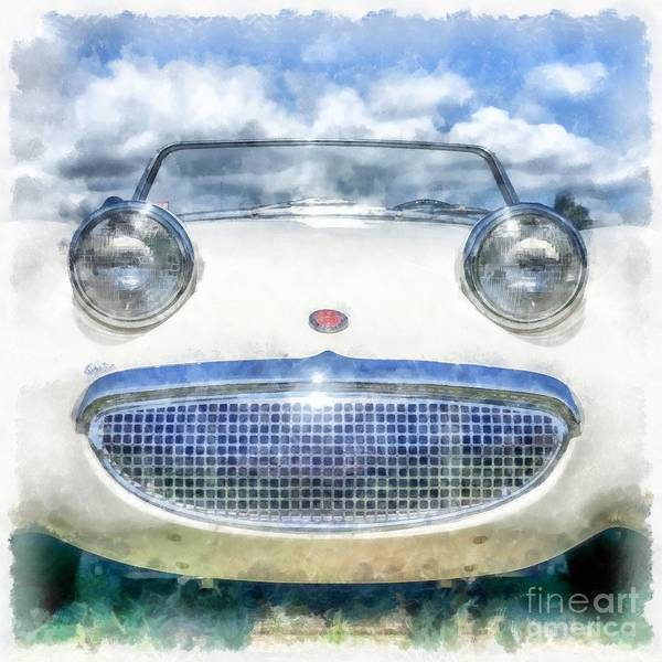 Wall Art - Digital Art - Happy Happy Fun Car by Edward Fielding