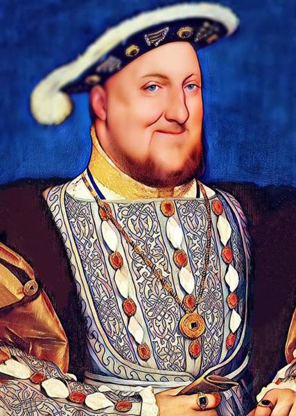 Digital Art - Happy Henry by Karen Showell