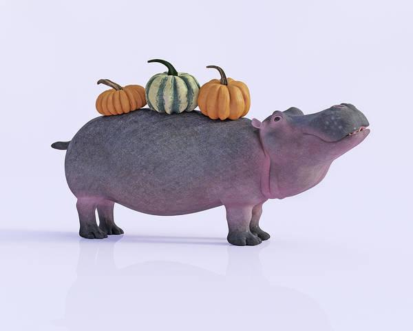 Pumpkin Digital Art - Pumpotomas by Betsy Knapp