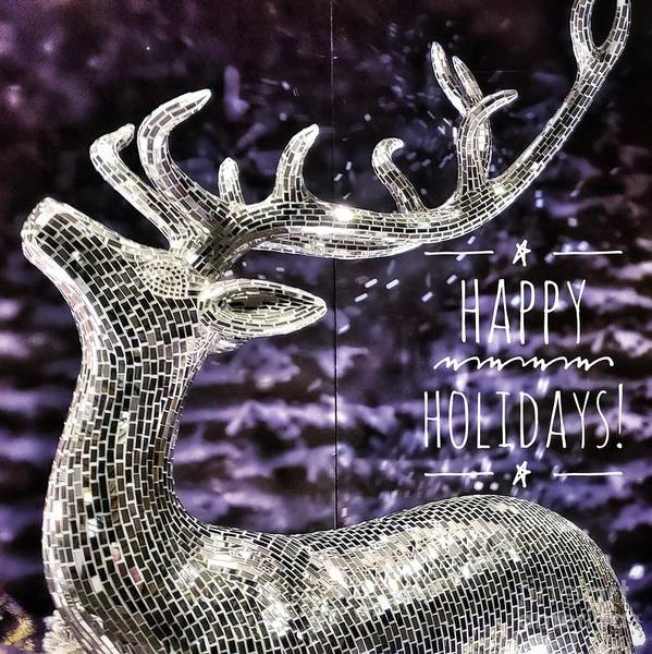 Happy Holiday Sparkle Art Print
