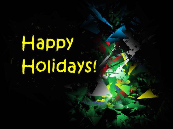Digital Art - Happy Holidays - 2018-7 by Ludwig Keck