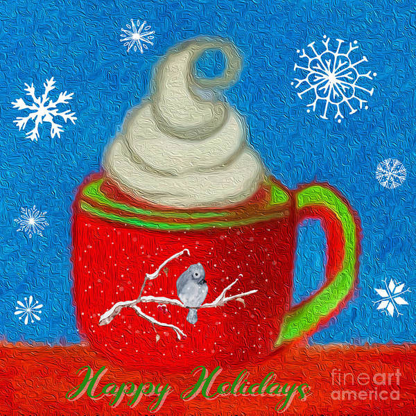 Mixed Media - Happy Holidays by MaryLee Parker