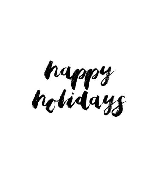 Photograph - Happy Holidays #minimalism #blackwhite by Andrea Anderegg