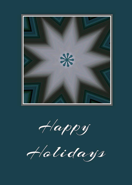 Photograph - Happy Holidays Snowflake by Kathy K McClellan