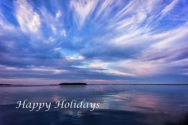 Photograph - Happy Holidays Sunset Awe by Louise Lindsay