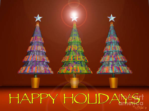Digital Art - Happy Holidays by Walter Neal