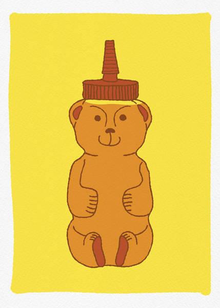 Painting - Happy Honey Bear by Jen Montgomery