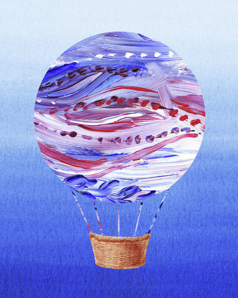 Painting - Happy Hot Air Balloon Watercolor V by Irina Sztukowski