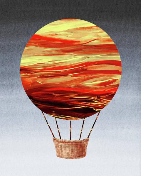 Painting - Happy Hot Air Balloon Watercolor Vii  by Irina Sztukowski