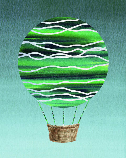 Wall Art - Painting - Happy Hot Air Balloon Watercolor X by Irina Sztukowski