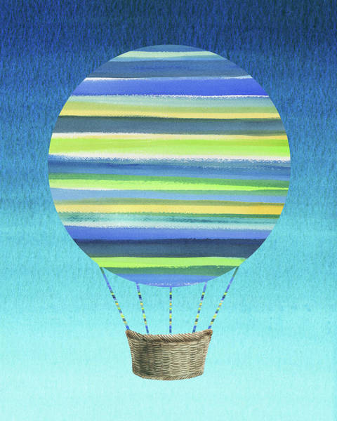 Painting - Happy Hot Air Balloon Watercolor Xi by Irina Sztukowski