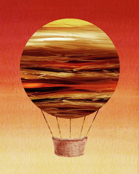 Wall Art - Painting - Happy Hot Air Balloon Watercolor Xii by Irina Sztukowski