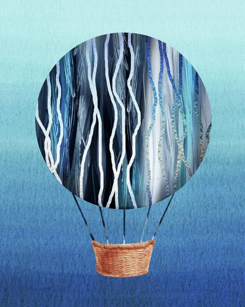 Painting - Happy Hot Air Balloon Watercolor Xiii by Irina Sztukowski