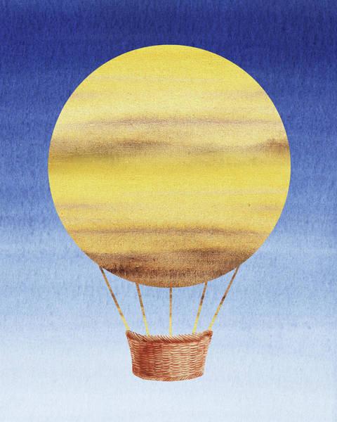 Wall Art - Painting - Happy Hot Air Balloon Watercolor Xiv by Irina Sztukowski