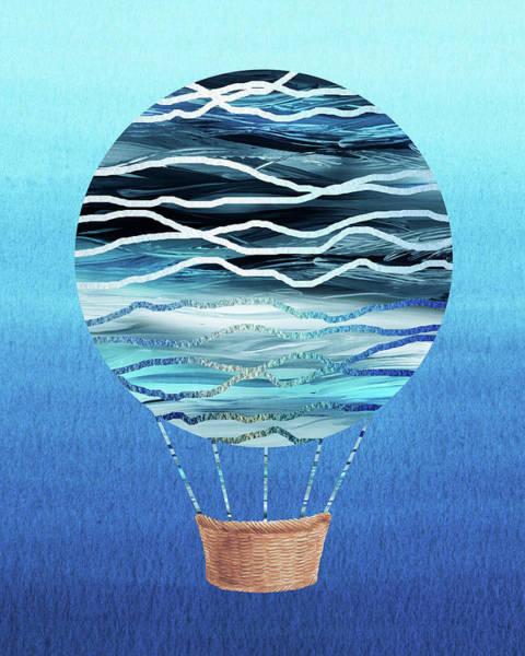Wall Art - Painting - Happy Hot Air Balloon Watercolor Xvii by Irina Sztukowski