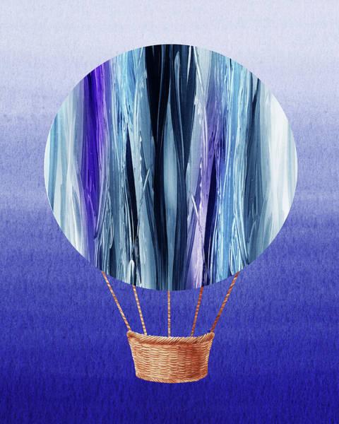 Painting - Happy Hot Air Balloon Watercolor Xx by Irina Sztukowski