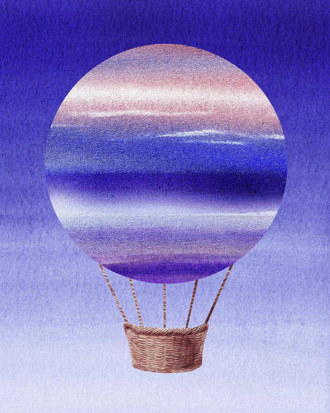 Painting - Happy Hot Air Balloon Watercolor Xxiv by Irina Sztukowski