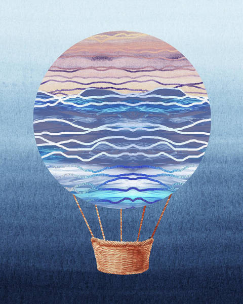 Wall Art - Painting - Happy Hot Air Balloon Watercolor Xxvi by Irina Sztukowski