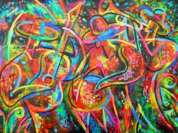 Wall Art - Painting - Happy Latin Music by Leon Zernitsky