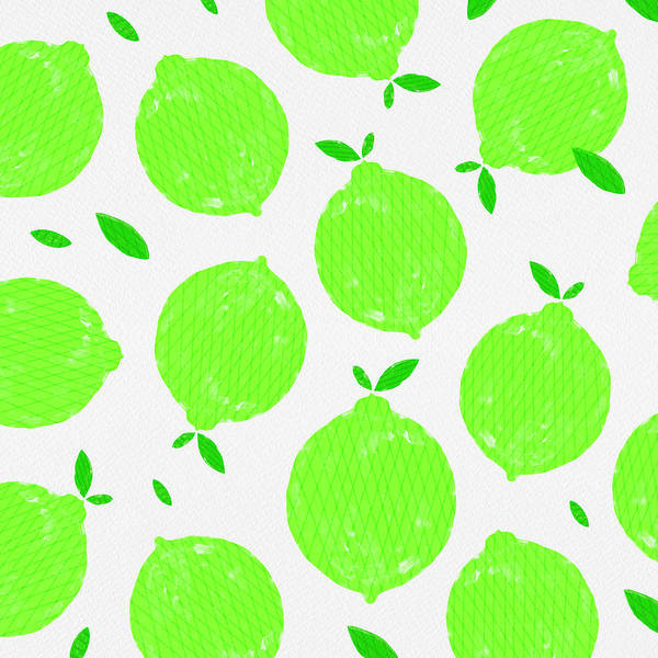 Painting - Happy Lime Print by Jen Montgomery