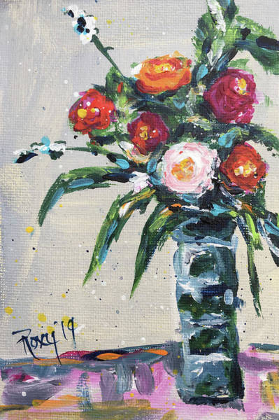 Artwork Painting - Happy Little Roses by Roxy Rich