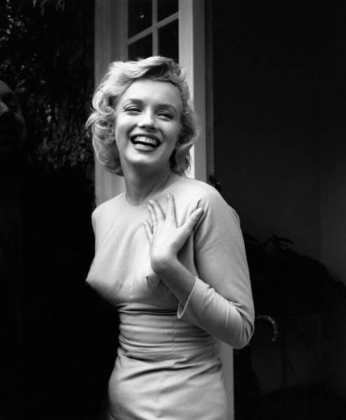 Laughing Photograph - Happy Marilyn by Evening Standard