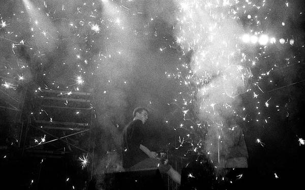 Photograph - Happy Mondays Bez Live Wembley Arena by Martyn Goodacre