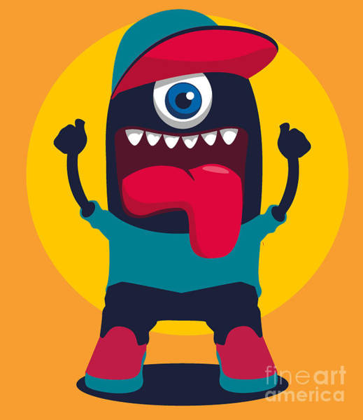 Wall Art - Digital Art - Happy Monster by Braingraph