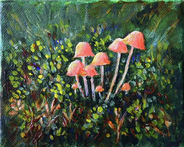 Happy Mushrooms Art Print