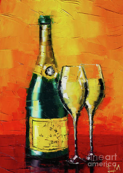 Champagne Painting - Happy New Year by Mona Edulesco