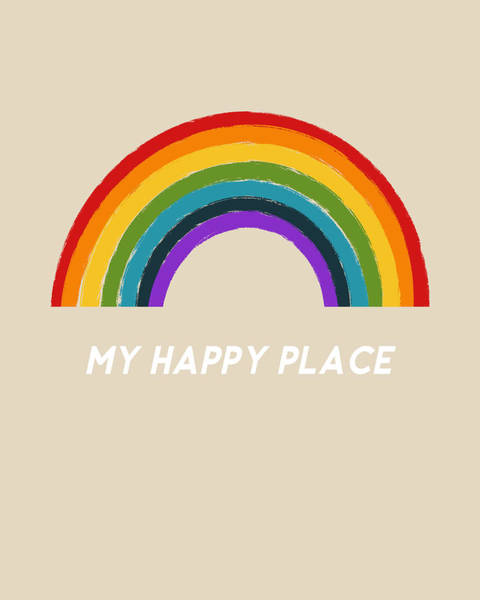 Mixed Media - Happy Place Rainbow- Art By Linda Woods by Linda Woods