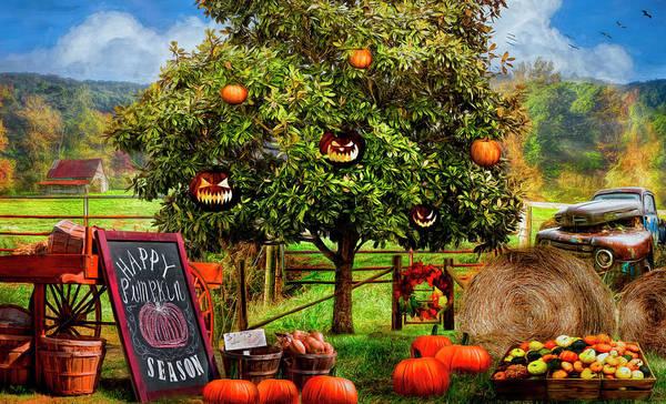 Digital Art - Happy Pumpkin Season by Debra and Dave Vanderlaan