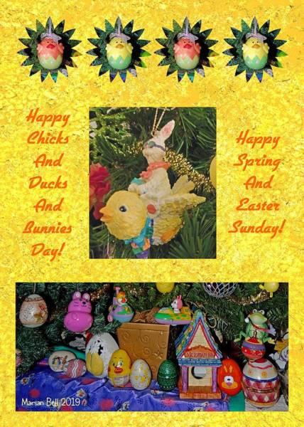 Easter Sunday Digital Art - Happy Spring And Easter Sunday by Marian Bell