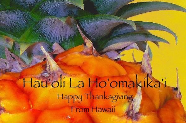 Thanksgiving Digital Art - Happy Thanksgiving Hawaiian Style by James Temple